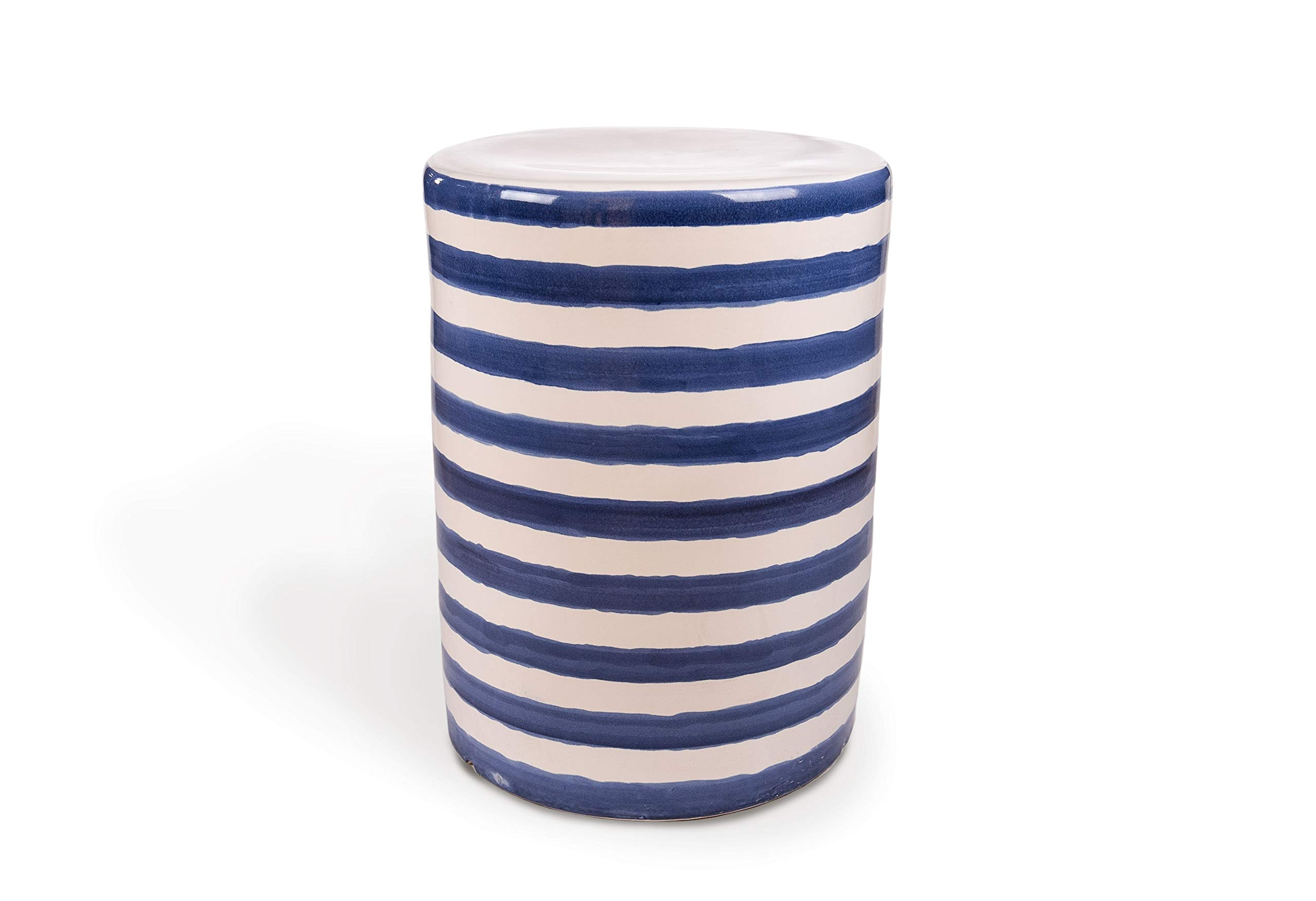 Leisure Made 569004 Clara Ceramic Side Table, One Size Blue and White by Leisure Made