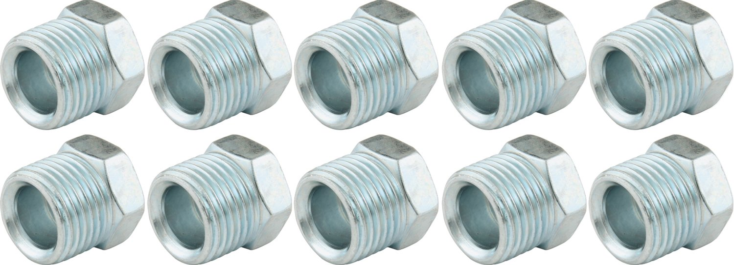Allstar ALL50142 5/8-18 Thread for 3/8'' Fuel Line Zinc Plated Inverted Flare Nut, (Pack of 10)