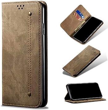 QBER Funda Samsung Galaxy A50 con Tapa, Fundas de Cuero PU Premium ...