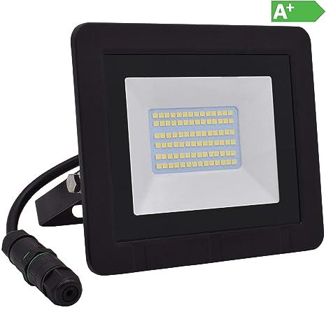 LED Fluter 50W LED IP65 Hell Außenstrahler Außenleuchte Flutlicht Warmweiß 230V