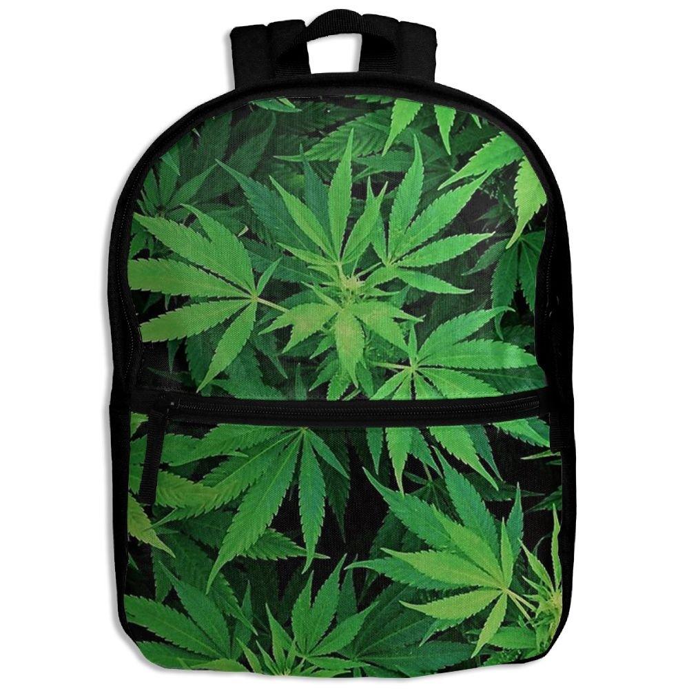 d28bc631ce32 hot sale Marijuana Weed Leaf Unisex Durable Printing Book Kid' Bag ...