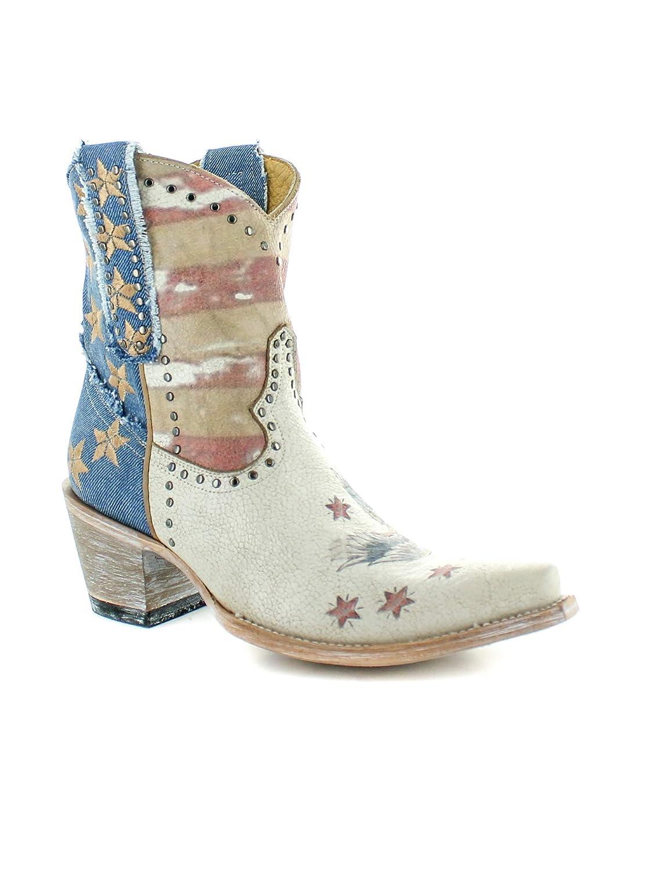 9553d212ae3 Amazon.com | Old Gringo Womens Jorie 8-Inch Short Patriotic Cowboy ...