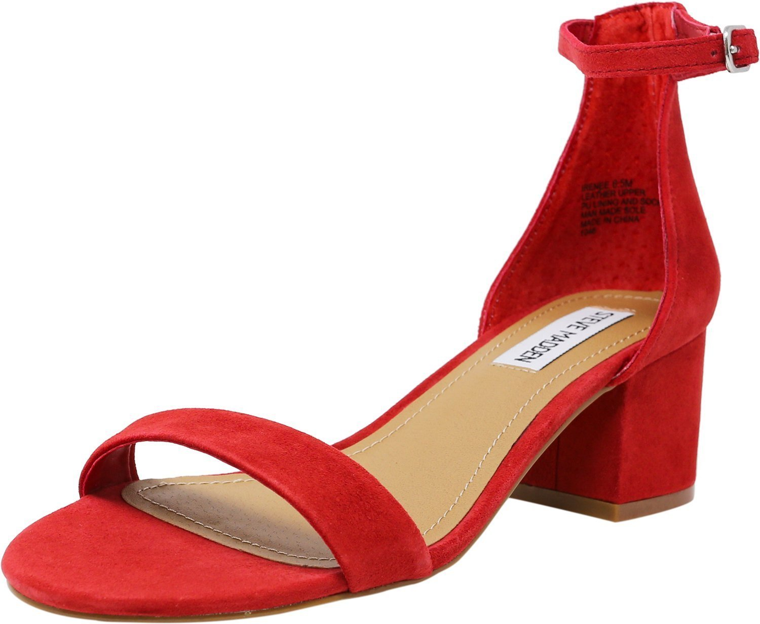 Steve Madden Women's Irenee Suede Red Ankle-High Pump - 9.5M