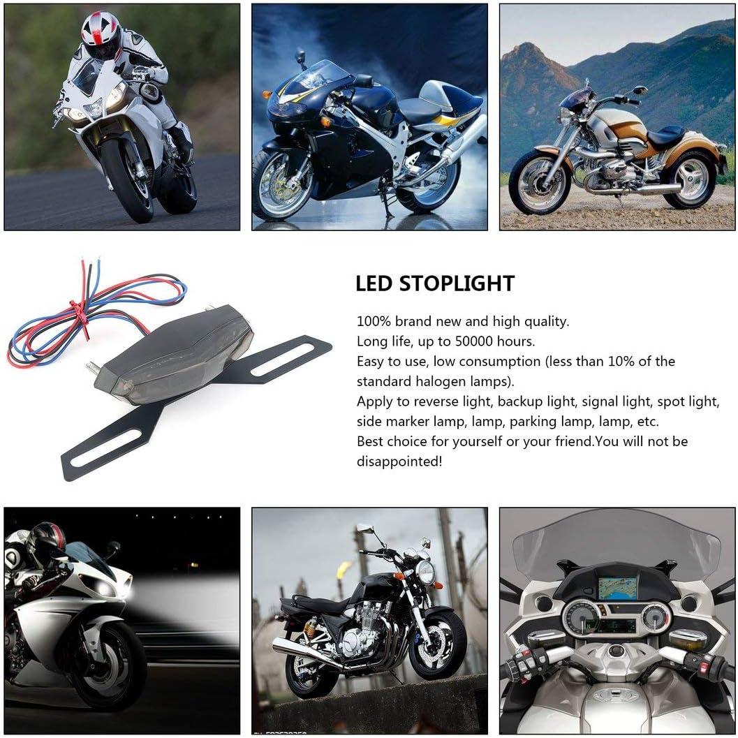 ABS e metallo Nero Lunga durata Basso consumo LED professionale Luce posteriore del fanale posteriore Fanale posteriore