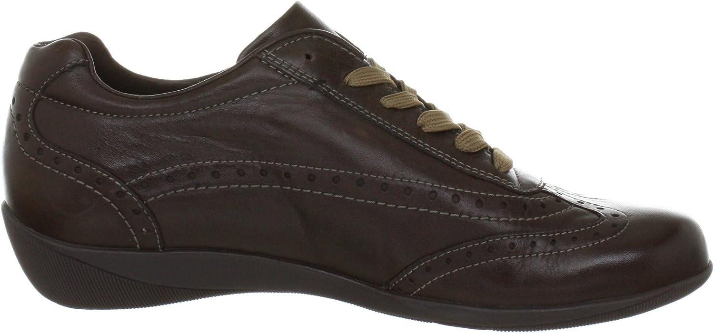 Hassia Roma, brede H klassieke sneakers voor dames Braun Caffee 2100