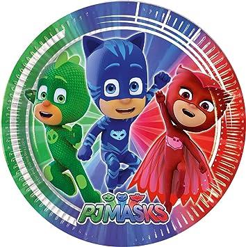 PROCOS 88630 Pj Masks - Platos, color azul/verde/rojo