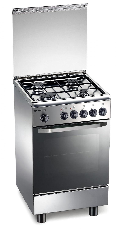 de longhi cucina gas 4 fuochi forno gas grill elettrico 50x50 cm ... - Cucina Quattro Fuochi