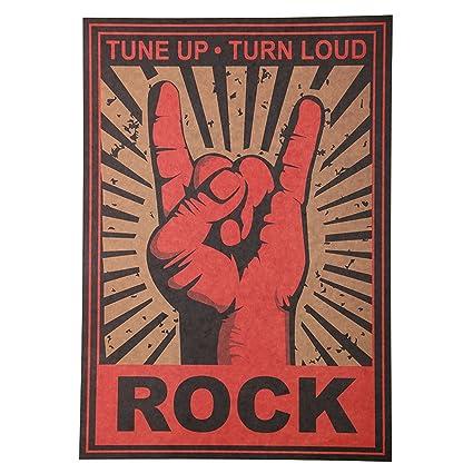 Amazon.com: 1 Pack Rock n Roll pegatinas de pared Rock ...