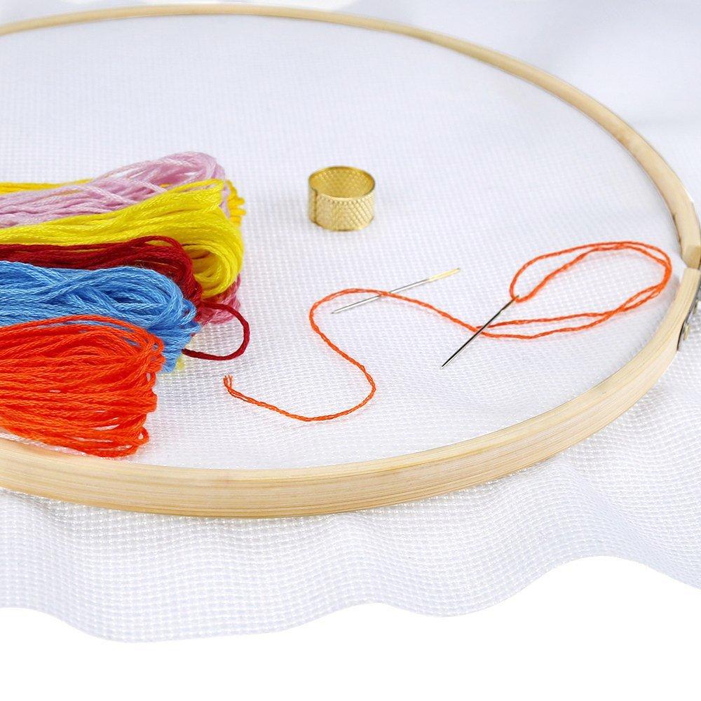 Pllieay 5 St/ück 5 Gr/ö/ßen Runde Stickrahmen Bambus Kreis Kreuzstich Kreise Kreise Kreise Kreise Kreise Kreise f/ür Handwerk N/ähen