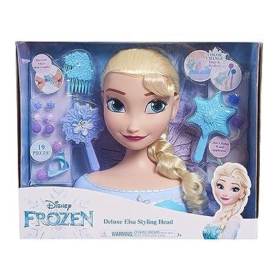 JP Disney Styling Frozen Deluxe Elsa Styling Head: Toys & Games