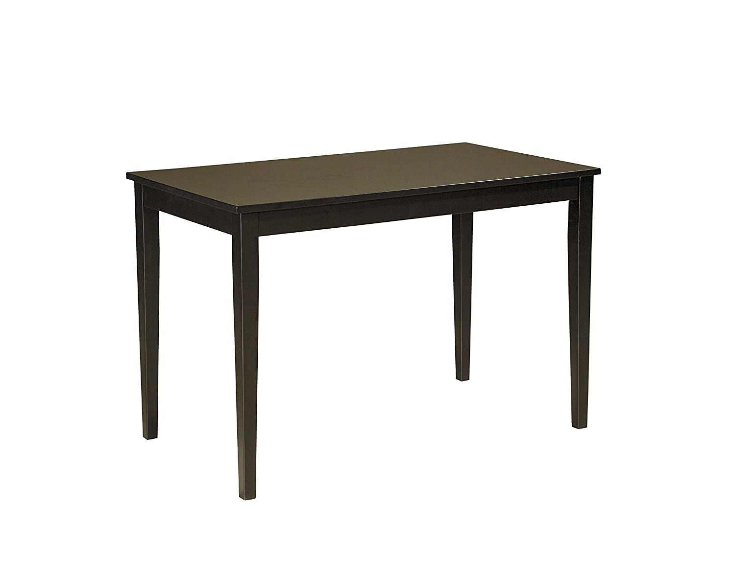 amazoncom ashley furniture signature design  kimonte dining room table rectangular  dark brown kitchen  dining. amazoncom ashley furniture signature design  kimonte dining