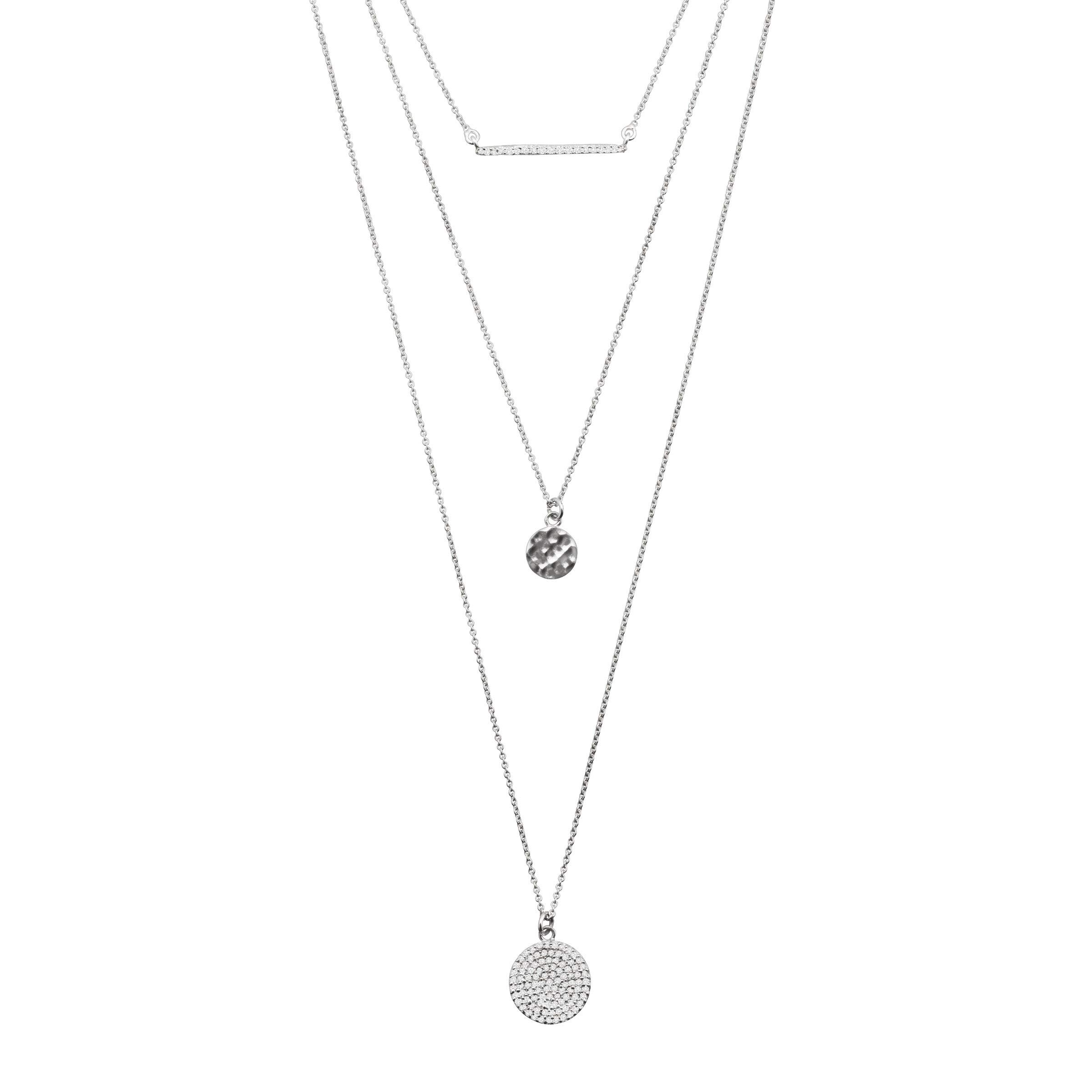 Silpada 'Triple Drop' 1/2 ct Cubic Zirconia Necklace in Sterling Silver