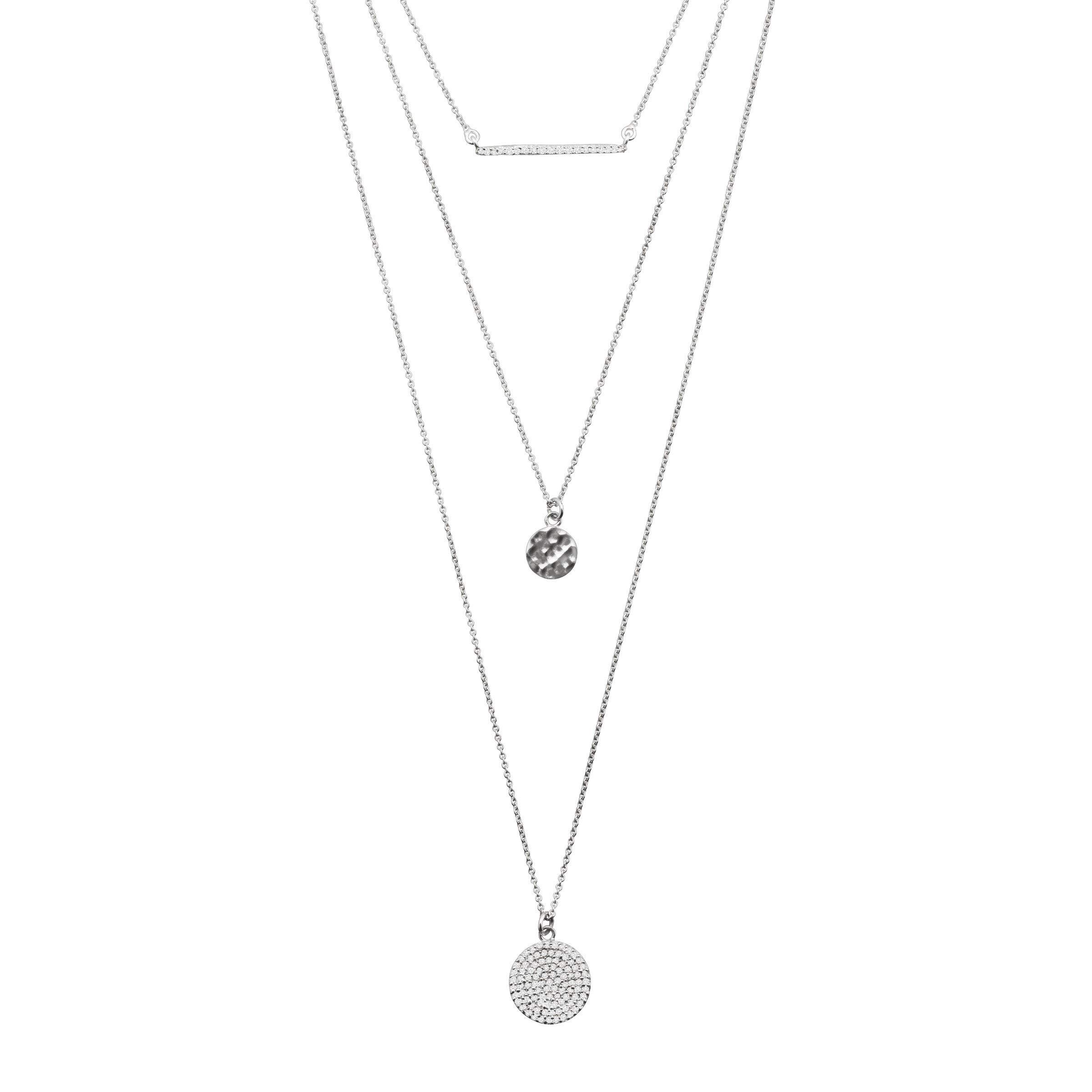 Silpada 'Triple Drop' 1/2 ct Cubic Zirconia Necklace in Sterling Silver by Silpada (Image #1)