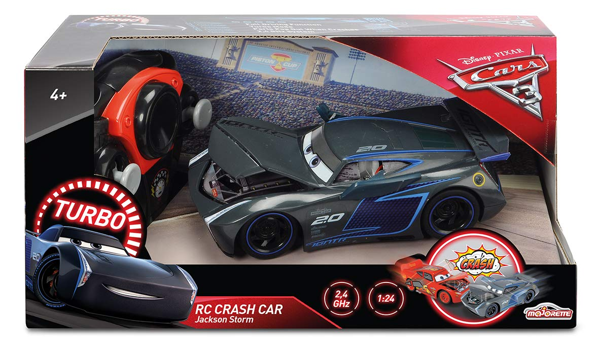 Majorette - Cars 3 Crash 1/24 Coche Jackson Storm, 7/213084019, Negro: Amazon.es: Juguetes y juegos