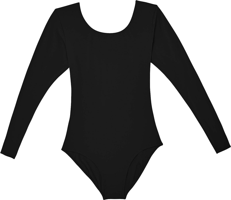DANSHOW Women Short Sleeve Ballet Leotards for Adult Dance