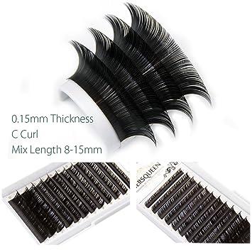 f5378927d5e Individual Eyelash Mix Length Salon Tray .15 C Curl D Curl Professional Silk  Lash Russian