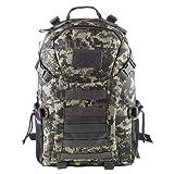HUKOER 35L Military Tactical Rucksack Outdoor Trekking Backpack Waterproof Shoulder Bag Combat Pack for Traveling Hiking Hunting School with Large Capacity