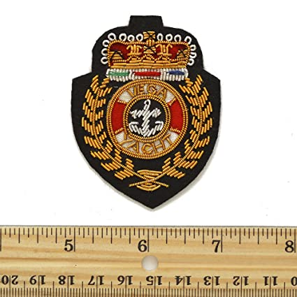 Amazon com: Gold Bullion Wire Embroidered Badges, Sew-on