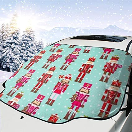 Mattrey Nutcracker Collection Car Windshield Sun Shade Cover Front Water Sunlight Snow Cover