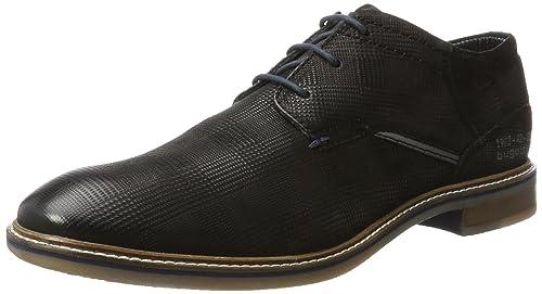 Bugatti 312167021014 zapatos de Cordones Cordones Cordones Derby para Hombre Negro 4e93c4