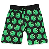 Minecraft Creeper Boys Swim Trunks and Rash Guard