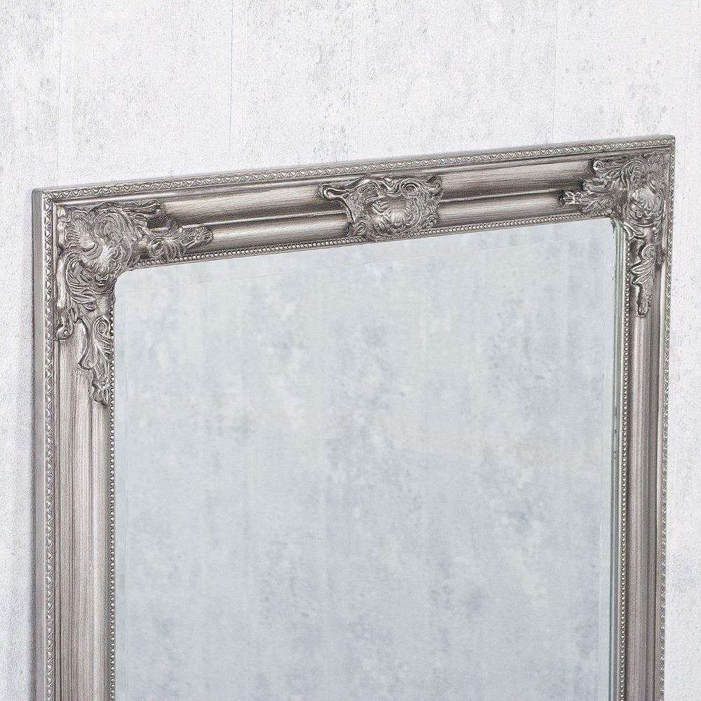 LEBENSwohnART Wandspiegel BESSA Silber Antik 180x70cm Barock Design ...