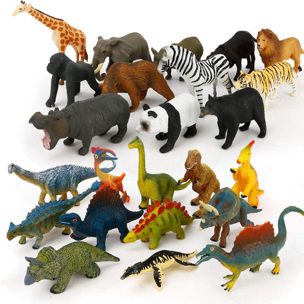 Jungle Friends Plastic Animals Toy Figure Set New /& Sealed Amscan 9901933