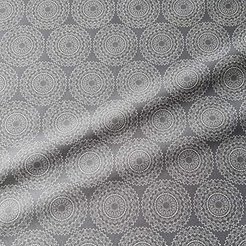 Werthers Stoffe Tela Tela de algodón Gris Blanco Mandala vehlo Tela Tela Decorativa: Amazon.es: Juguetes y juegos