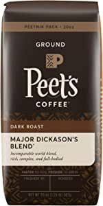 Peet's Coffee Major Dickason's Blend, Dark Roast Ground Coffee, 20 oz