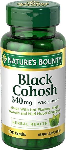 Natures Bounty - Magnesio entero natural de Cohosh del negro 540 de la hierba. -