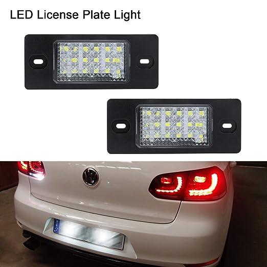Luz de matrícula LED Gempro 2 X Luz de la matrícula 18 SMD con resistor de bus CAN incorporado y luz de placa de ahorro de energía impermeable sin errores ...