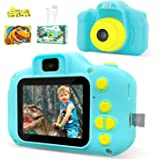 DYY Dinosaur Theme Kids Camera HD 1080p Video Selfie Digital Camera for Kids Dream Gift for 3 4 5 6 7 8 Years Old Boys and Gi