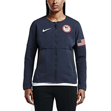 Nike Womens Team USA 2016 Authentic Olympics Tech Fleece Red White Blue  Medium 391cf688a9