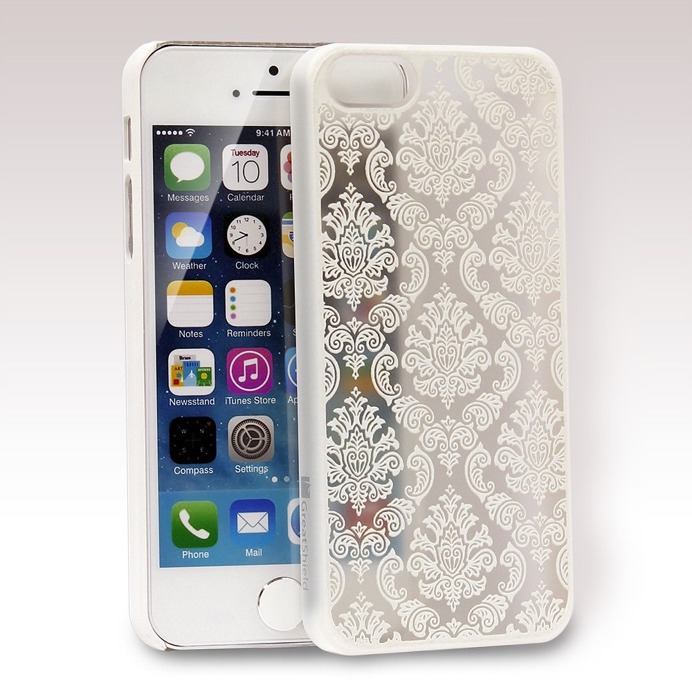 Amazon IPhone SE Case GreatShield TACT Series Design Pattern Rubber Coating Slim Fit Hard Cover For Apple 5S 5 Damask