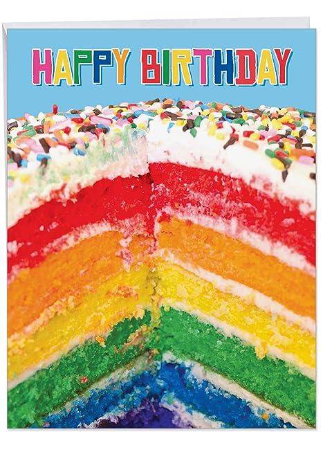 Amazon.com: mpjbd10 Jumbo pasteles y velas tarjeta de ...