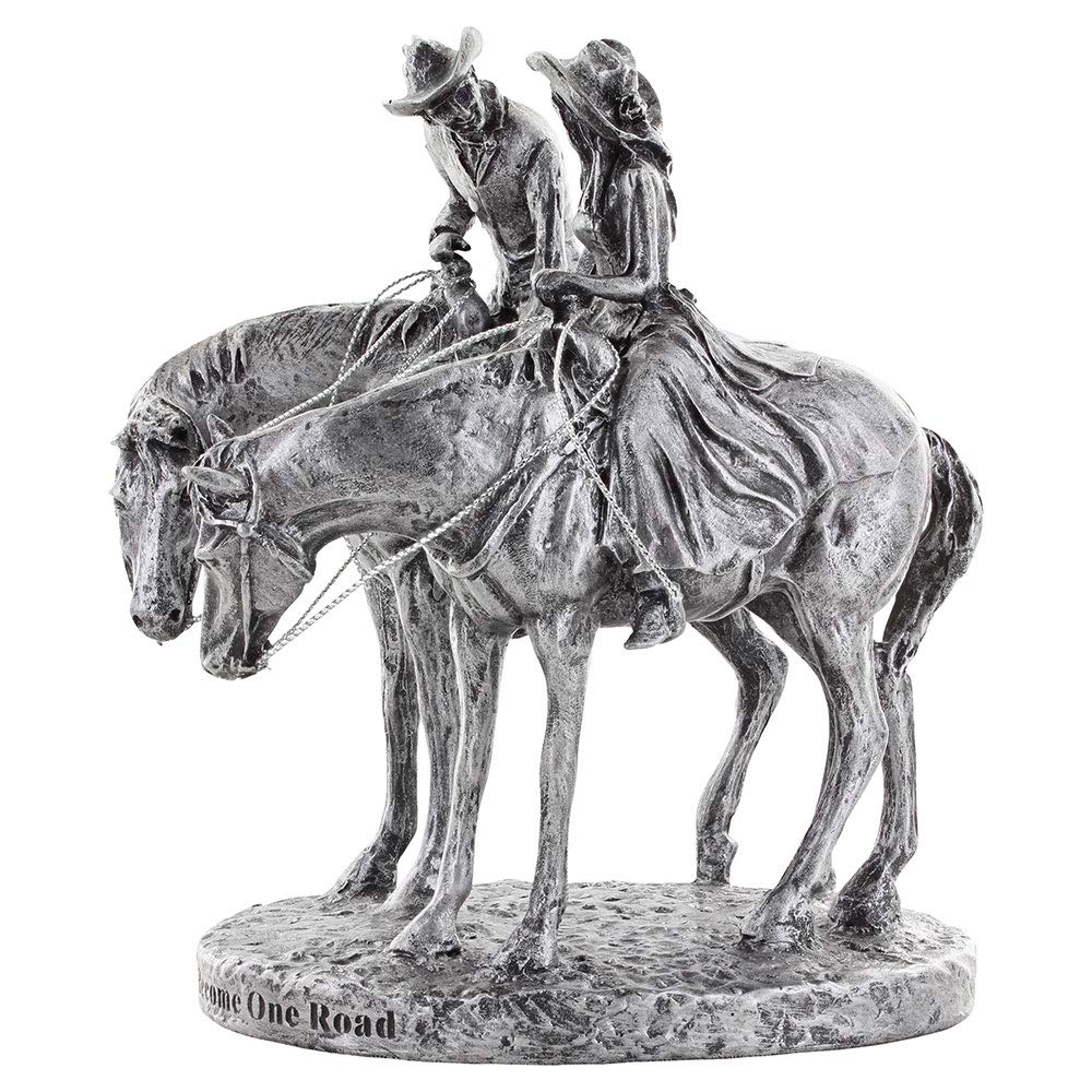 Montana Silversmiths Western Romance Themed Resin Wedding Cake Topper Two Trails Become One Antiqued Silver Amazon Com Grocery Gourmet Food