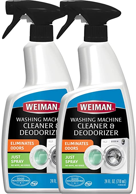 Weiman Washing Machine Cleaner -24 Ounce 2 Pack - High Efficiency HE Compatible for Samsung LG Top Loader Front Loader Cleans and Deodorizes