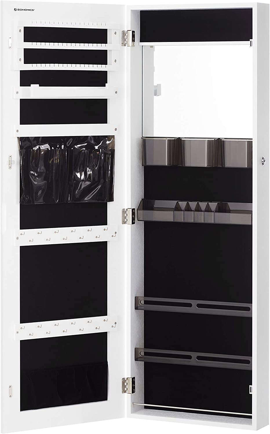 SONGMICS Lockable Jewelry Cabinet Armoire $66.83 Coupon