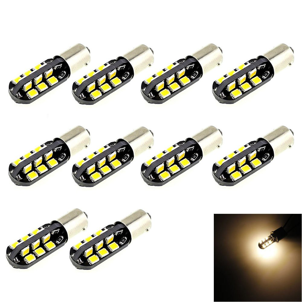 BA9/BA9S T4/W 53/57/1895/64111/LED bombillas luces de color blanco muy brillante bombillas /2835/SMD LED 24/