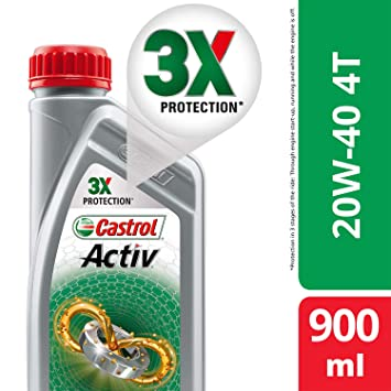 Castrol Activ 4t 20w 40 Petrol Engine Oil For Bikes 900 Ml