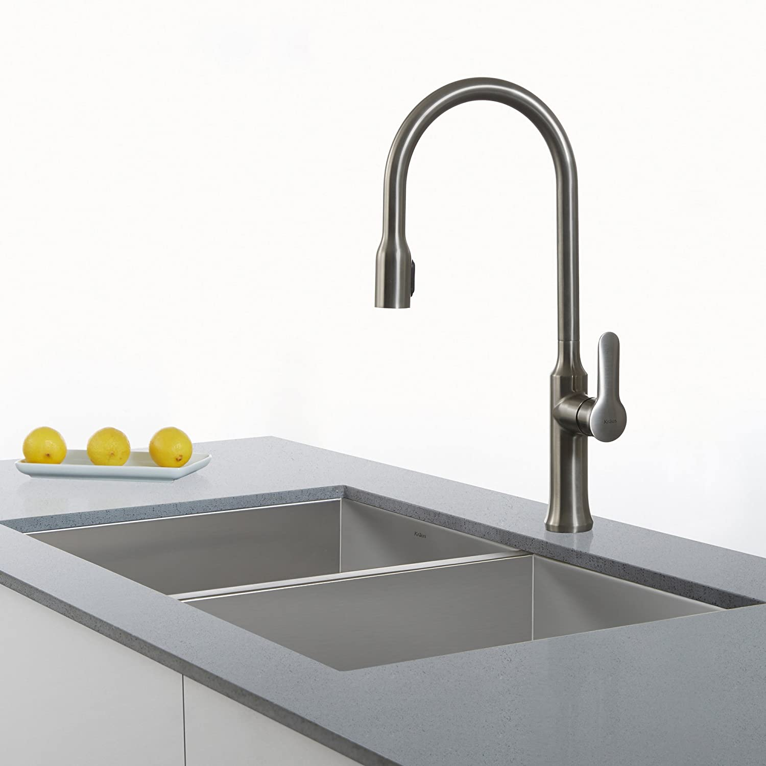 Kraus KPF 1660SS Modern Nola Single Lever Concealed Pull Down