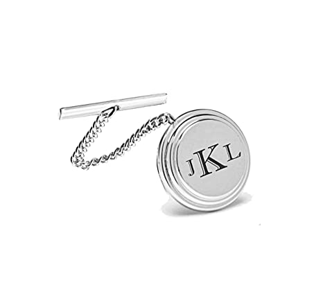 f0e60d0b6480 Amazon.com: Personalized Silver Beveled Tie Pin Engraved Free: Office  Products