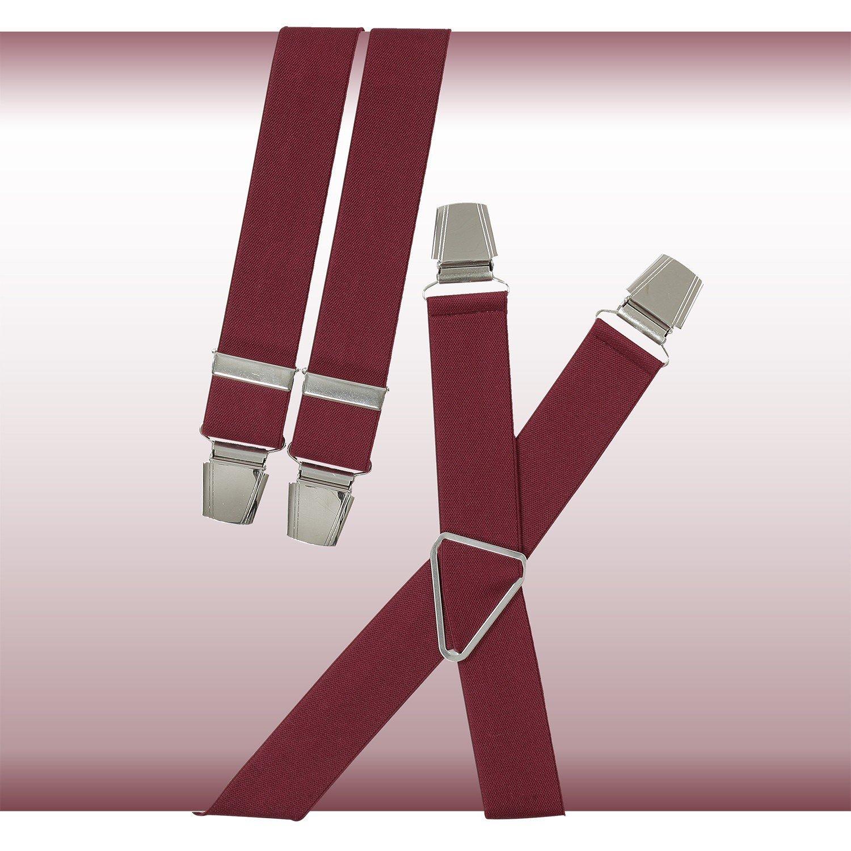 Lindenmann Bretelles rouge de avec clips renforcés, extra large
