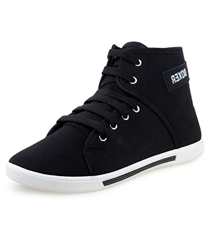 Chevit Men's Black Casual Sneaker Shoes: Buy Online at Low Prices in India  - Amazon.in