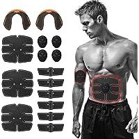 Festnight EMS elektrische buiktrainer, EMS-spierstimulator 15 stuks voor buikspieren, taillespieren, beenspieren, heupen…