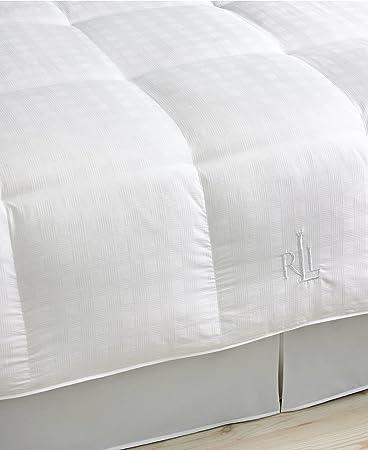 Amazon.com: Lauren Ralph Lauren Silver Comfort White 400 Thread Count Glen  Plaid FULL/QUEEN Down Comforter: Home U0026 Kitchen