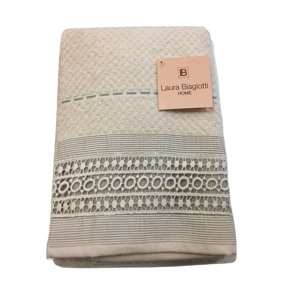 Laura Biagiotti Coppia asciugamani di spugna Augusta-Beige