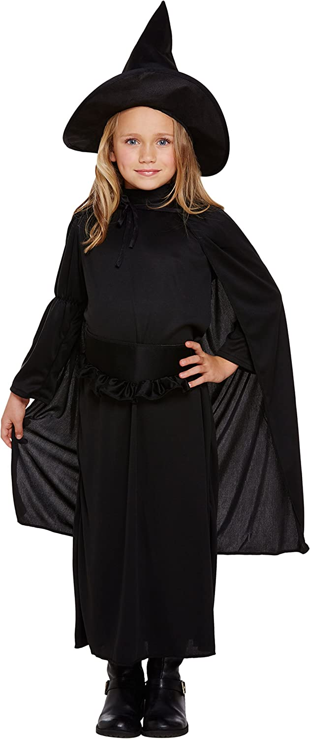 FANCY DRESS HALLOWEEN WITCHES OUTFIT BLACK//RED 8 TO 18