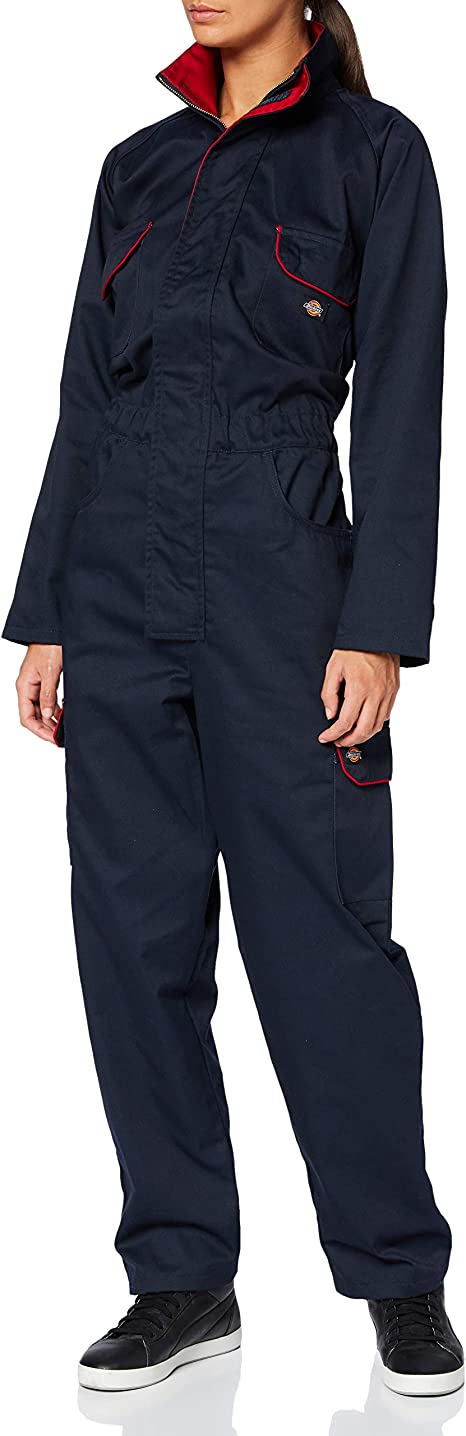 Dickies WD4839W NVR 12 Combinaison por femmeRedhawk Taille 38 bleu marine//rouge