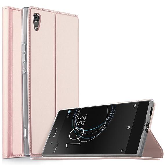 half off b1b45 58aa4 KuGi Sony Xperia XA1 case,Ultra-Thin BW Style PU Cover + TPU Back Stand  Case for Sony Xperia XA1 5 inch Smartphone(Rosegold)